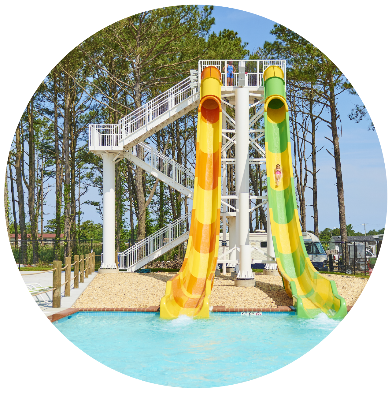 Racing waterslides