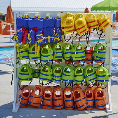 Life vests at Maui Jack's Waterpark