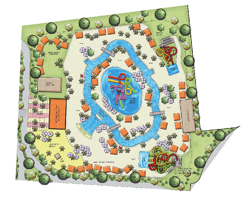 Maui Jack's Waterpark Map