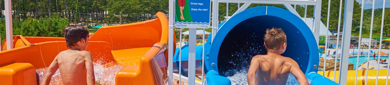 Race to the bottom at Maui Jack's Waterpark