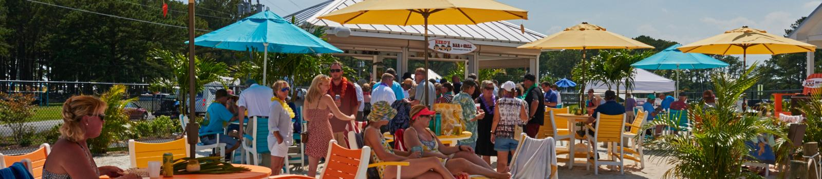 Group of people relaxing at Maui Jack's Waterpark